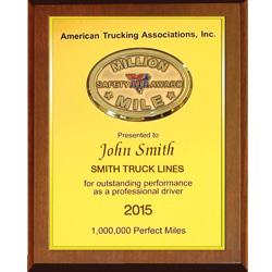 Trucking Truck Driver Semi ATA Two Million Mile Safe Driving Award Certificate
